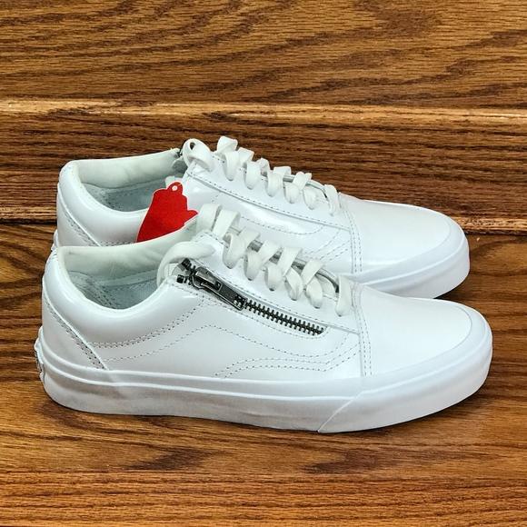 Vans Old Skool ZIp DX Smooth Leather True White